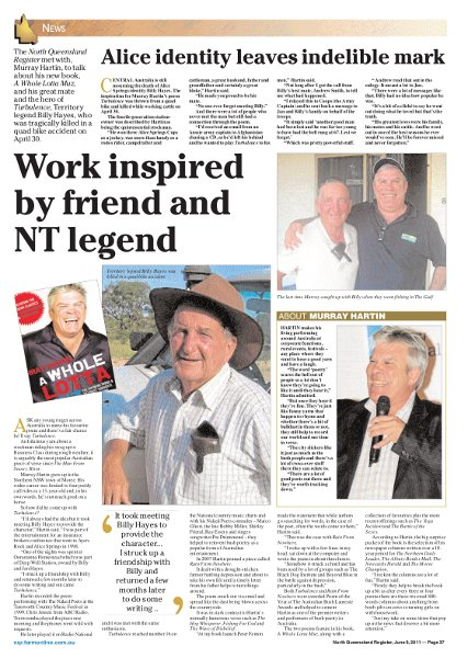 story on Billy in Nth Qld Register