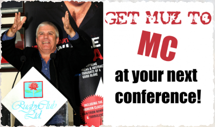 Get Muz to MC your next conference